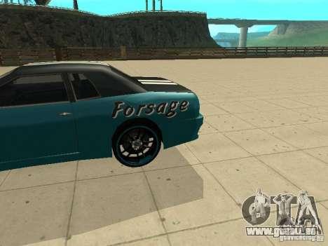 Elegy Forsage pour GTA San Andreas sur la vue arrière gauche