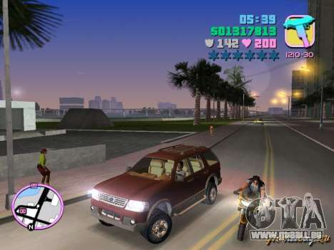 Ford Explorer für GTA Vice City linke Ansicht