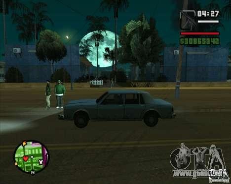 Lune pour GTA San Andreas deuxième écran