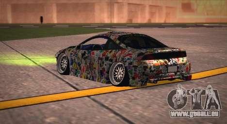 Mitsubishi Eclipse 1997 Drift pour GTA San Andreas sur la vue arrière gauche
