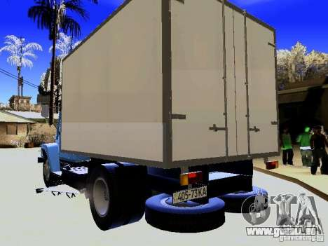 GAZ 3309 für GTA San Andreas zurück linke Ansicht