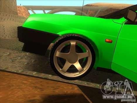 VAZ 2109 hiver pour GTA San Andreas vue intérieure