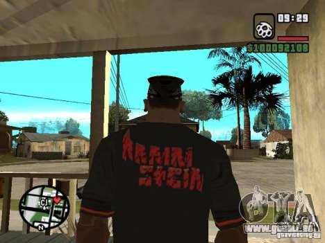 Rammstein t-shirt v2 pour GTA San Andreas deuxième écran