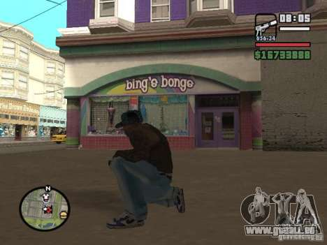 Blue Nike Air Force für GTA San Andreas dritten Screenshot