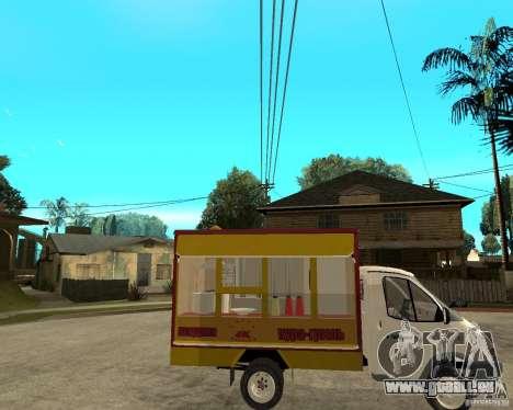 Grill Gaz-3302 Gazelle pour GTA San Andreas vue de droite