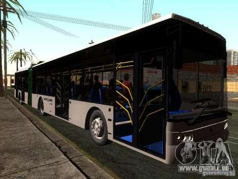 Trolleybus LAZ E301 für GTA San Andreas zurück linke Ansicht