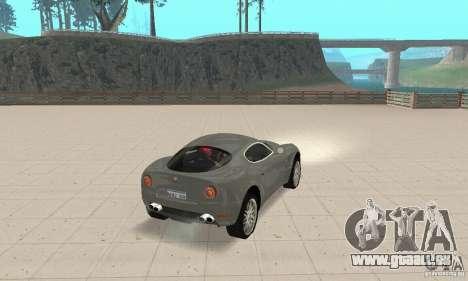 Alfa Romeo 8 c Competizione stock pour GTA San Andreas vue de côté
