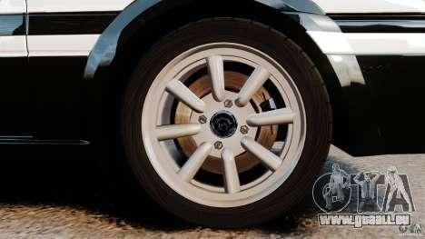 Toyota Sprinter Trueno GT 1985 Apex [EPM] für GTA 4 Rückansicht