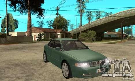 Audi S4 2000 pour GTA San Andreas vue arrière