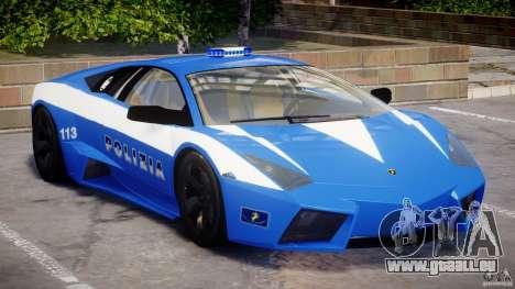 Lamborghini Reventon Polizia Italiana pour GTA 4 est une gauche