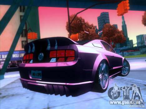 Ford Mustang Eleanor Prototype für GTA San Andreas Rückansicht