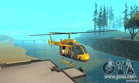 Der Sightseeing-Hubschrauber von Gta 4 für GTA San Andreas Rückansicht