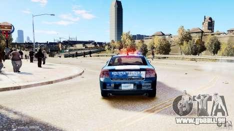 POLICIA FEDERAL MEXICO DODGE CHARGER ELS pour GTA 4 Vue arrière de la gauche