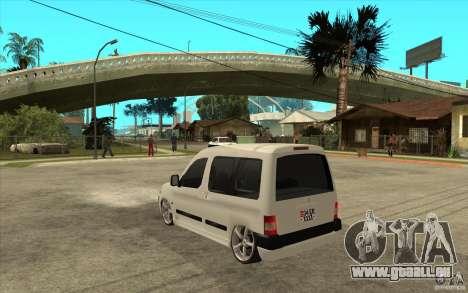 Citroen Berlingo 2007 pour GTA San Andreas sur la vue arrière gauche
