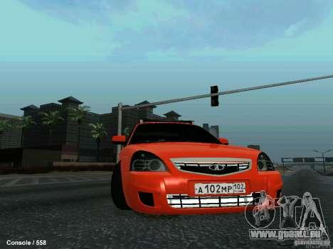 LADA 2170 102-RUS pour GTA San Andreas vue de côté