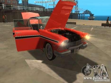 Plymouth Belvedere Sport sedan pour GTA San Andreas vue arrière