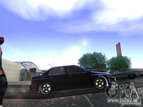 Mitsubishi Lancer Evolution VIII für GTA San Andreas zurück linke Ansicht