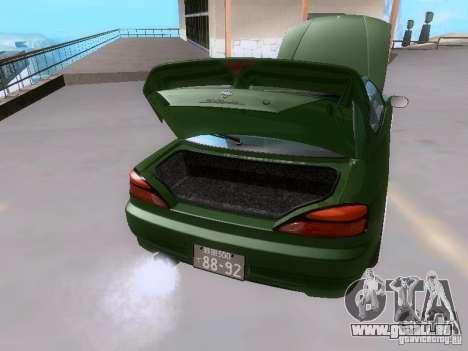 Nissan Silvia S15 drift pour GTA San Andreas vue de dessus