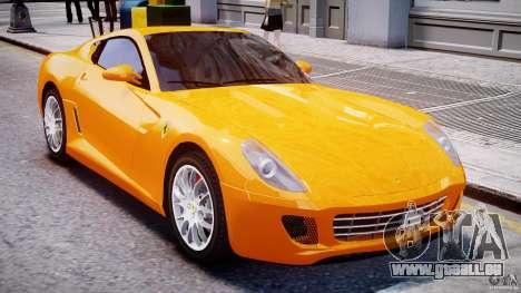 Ferrari 599 GTB Fiorano für GTA 4 obere Ansicht