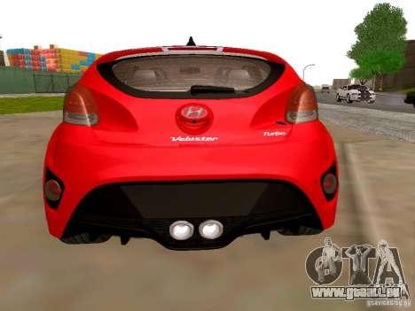 Hyundai Veloster Turbo v1.0 pour GTA San Andreas sur la vue arrière gauche