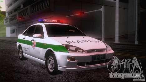 Ford Focus Policija für GTA San Andreas