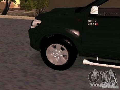 Toyota Hilux SRV 3.0 4X4 Automatica für GTA San Andreas rechten Ansicht