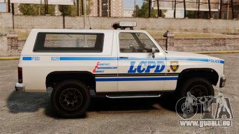 Polizei Rancher ELS für GTA 4 linke Ansicht