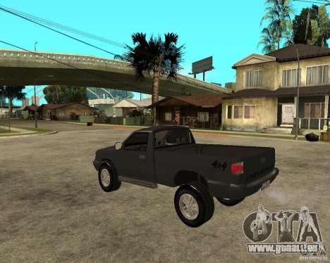 Chevrolet S-10 pour GTA San Andreas laissé vue