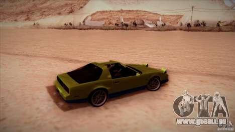 Pontiac Firebird Trans Am pour GTA San Andreas sur la vue arrière gauche
