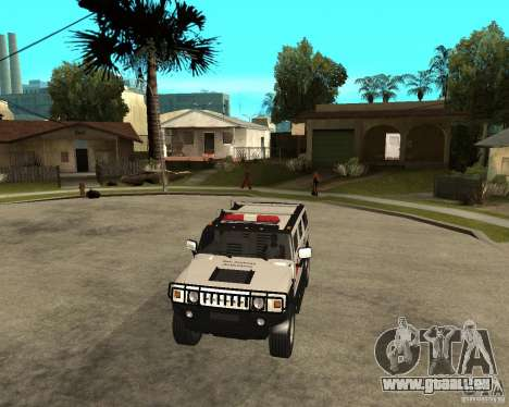 AMG H2 HUMMER - RED CROSS (ambulance) pour GTA San Andreas vue arrière