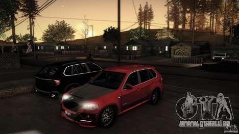 BMW X5 with Wagon BEAM Tuning pour GTA San Andreas vue de côté