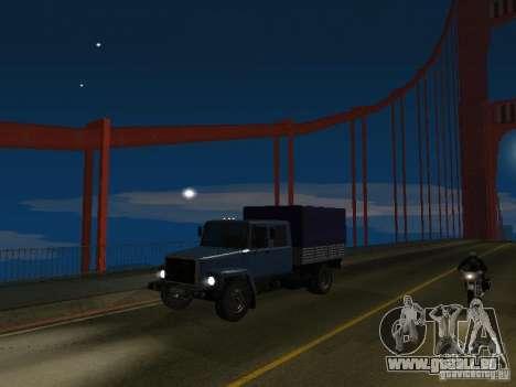 GAZ 3309 Jäger für GTA San Andreas Rückansicht