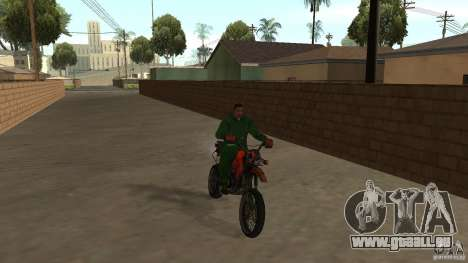 Motorrad Mirabal für GTA San Andreas linke Ansicht