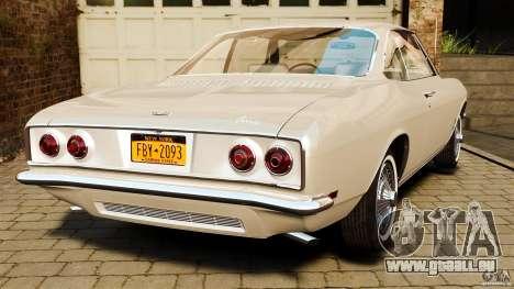 Chevrolet Corvair Monza 1969 für GTA 4 hinten links Ansicht