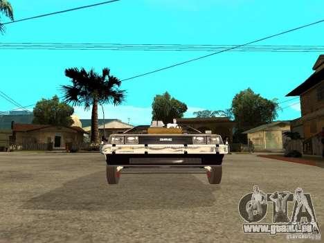 DeLorean DMC-12 für GTA San Andreas rechten Ansicht