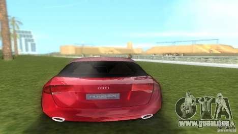 Audi Nuvolari Quattro pour GTA Vice City sur la vue arrière gauche