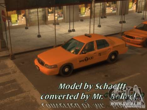 Ford Crown Victoria Taxi pour GTA 4