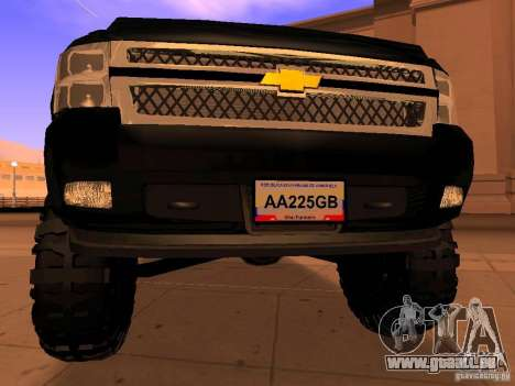 Chevrolet Silverado HD 3500 2012 pour GTA San Andreas vue arrière