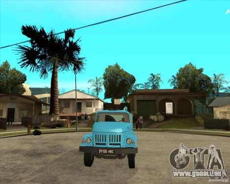 Camion à ordures ZIL 131 pour GTA San Andreas vue arrière