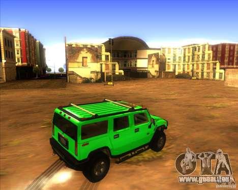 Hummer H2 updated für GTA San Andreas zurück linke Ansicht