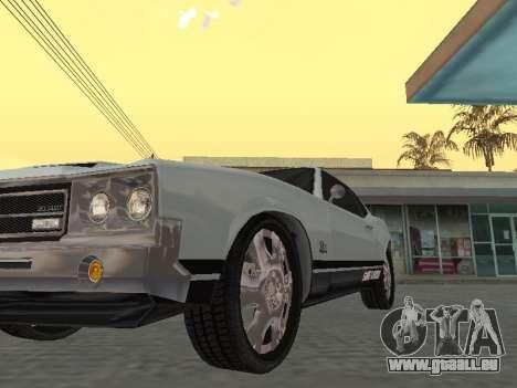 SabreGT de GTA 4 pour GTA San Andreas vue arrière