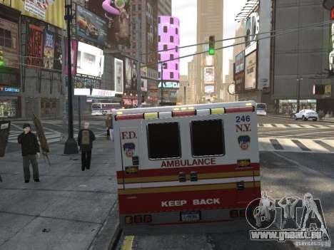 Chevrolet Ambulance FDNY v1.3 für GTA 4 hinten links Ansicht