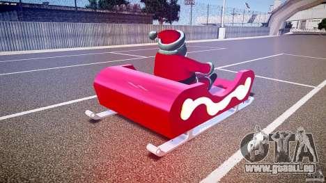 Santa Sled normal version pour GTA 4 est un côté