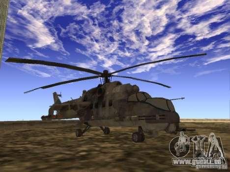 Mil Mi-24 von COD MW 2 für GTA San Andreas