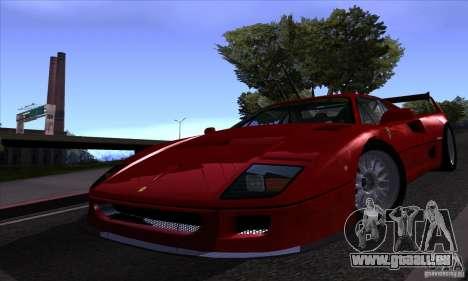 Ferrari F40 GTE LM für GTA San Andreas Seitenansicht
