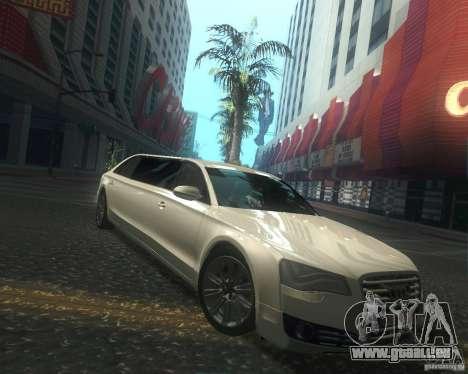 Audi A8 2011 Limo pour GTA San Andreas vue intérieure