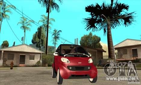 Smart pour GTA San Andreas vue intérieure