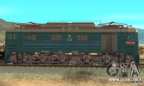 Locomotive VL23-419 pour GTA San Andreas sur la vue arrière gauche