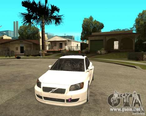 VOLVO C30 SAFETY CAR STCC v2.0 pour GTA San Andreas vue arrière
