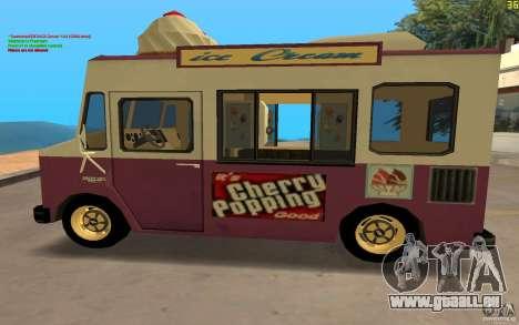 Chevrolet Forvard Control 20 Ice Cream pour GTA San Andreas sur la vue arrière gauche